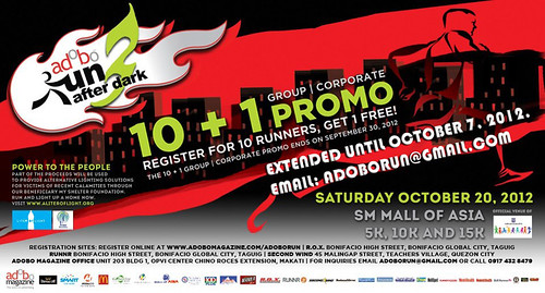 adobo run 3 2012 Group Rate promo