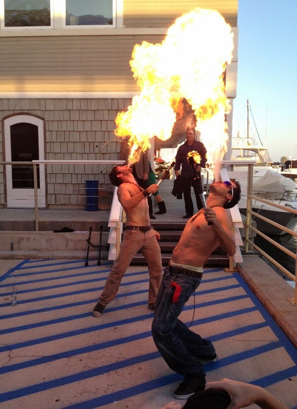 Yacht Fashion Show Flame Throwers