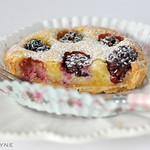 Blackberry frangipane tart