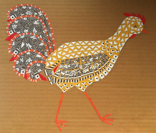 Chicken Collage Day 28 (October 3, 2012) by randubnick