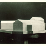 Wood block model of Law Commons, the University of Iowa, 1930s?