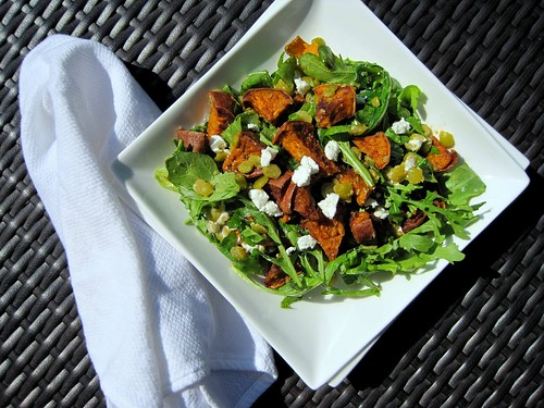 sweet potato lentil salad
