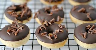 Gluten free Chocolate iced mini doughnuts