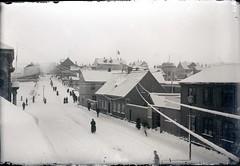 Borgarmynd, yfirlitsmynd, vetur, snjór, 1913-1920