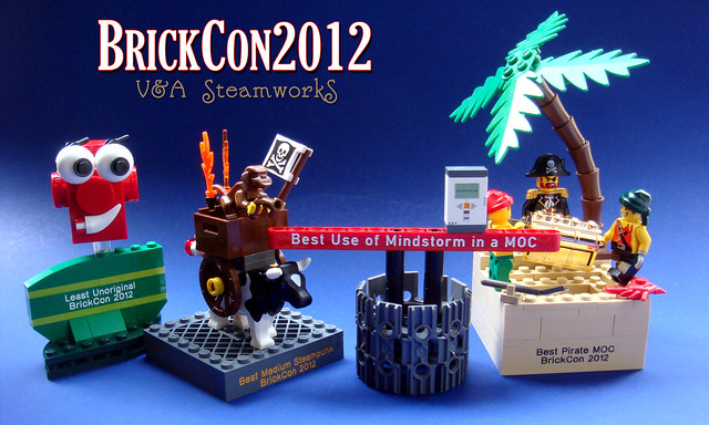 Trophies from BrickCon 2012