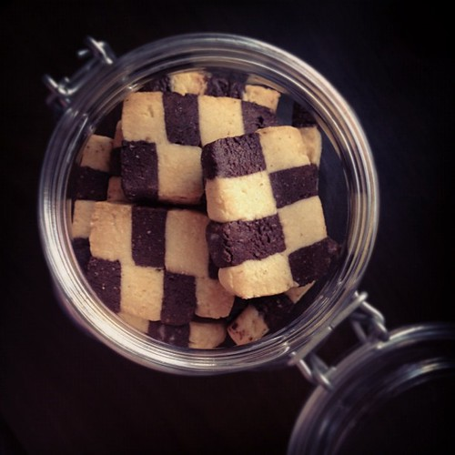 Checkerboard cookies :)