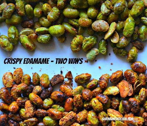 crispy edamame - two ways