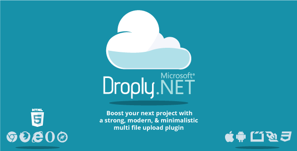 Droply.net - minimalist responsive large digital file uploade
