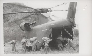 Marines Carry Captured Rice Aboard Helicopters, 19 June 1967