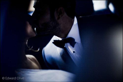 Backseat Mercedes s500 wedding in Madrid Spain summer 2012 - Edward Olive fotografo de bodas, preboda, postboda by Edward Olive Fotografo de boda Madrid Barcelona