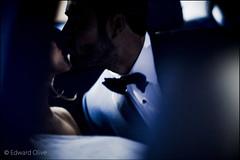 Backseat Mercedes s500 wedding in Madrid Spain summer 2012 - Edward Olive fotografo de bodas, preboda, postboda ejemplo de una boda en el Pardo verano de 2012