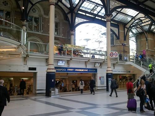 London Liverpool station, fresh off the train