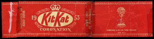 UK - Rowntree - Kit Kat - Coronation Editon - chocolate wrapper - 1953 by JasonLiebig