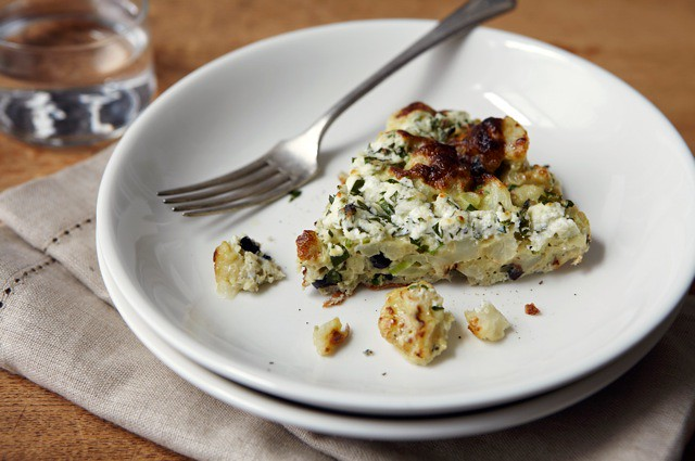 Cauliflower, Olive, and Preserved Lemon Frittata