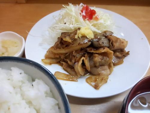 生姜焼き定食@笑姜や(江古田)