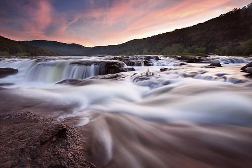 new sunset west river virginia sandstone falls wv national gorge hinton