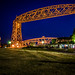 Small photo of Night view of Aerial Lift Bridge