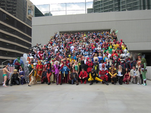 Marvel Comics Photo Shoot at DragonCon 2012