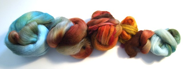 Nestfiberstudio-Galactic Melt & some red Nestlets for the Warm Toes SAL & KAL