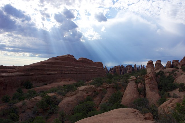 sunrays at arches