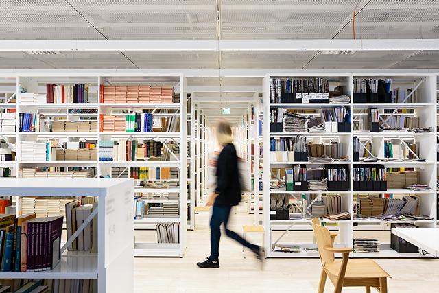 Kaisa-talon opiskelijakirjasto Helsingissä