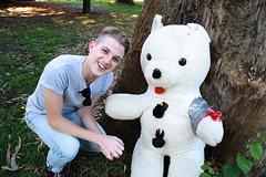 snowman(0.0), teddy bear(1.0), stuffed toy(1.0), toy(1.0),