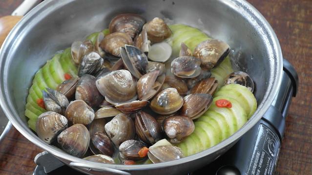 活力海岸,開飯啦!絲瓜蛤蜊