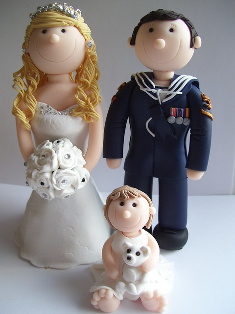 royal navy wedding cake toppers personalised and