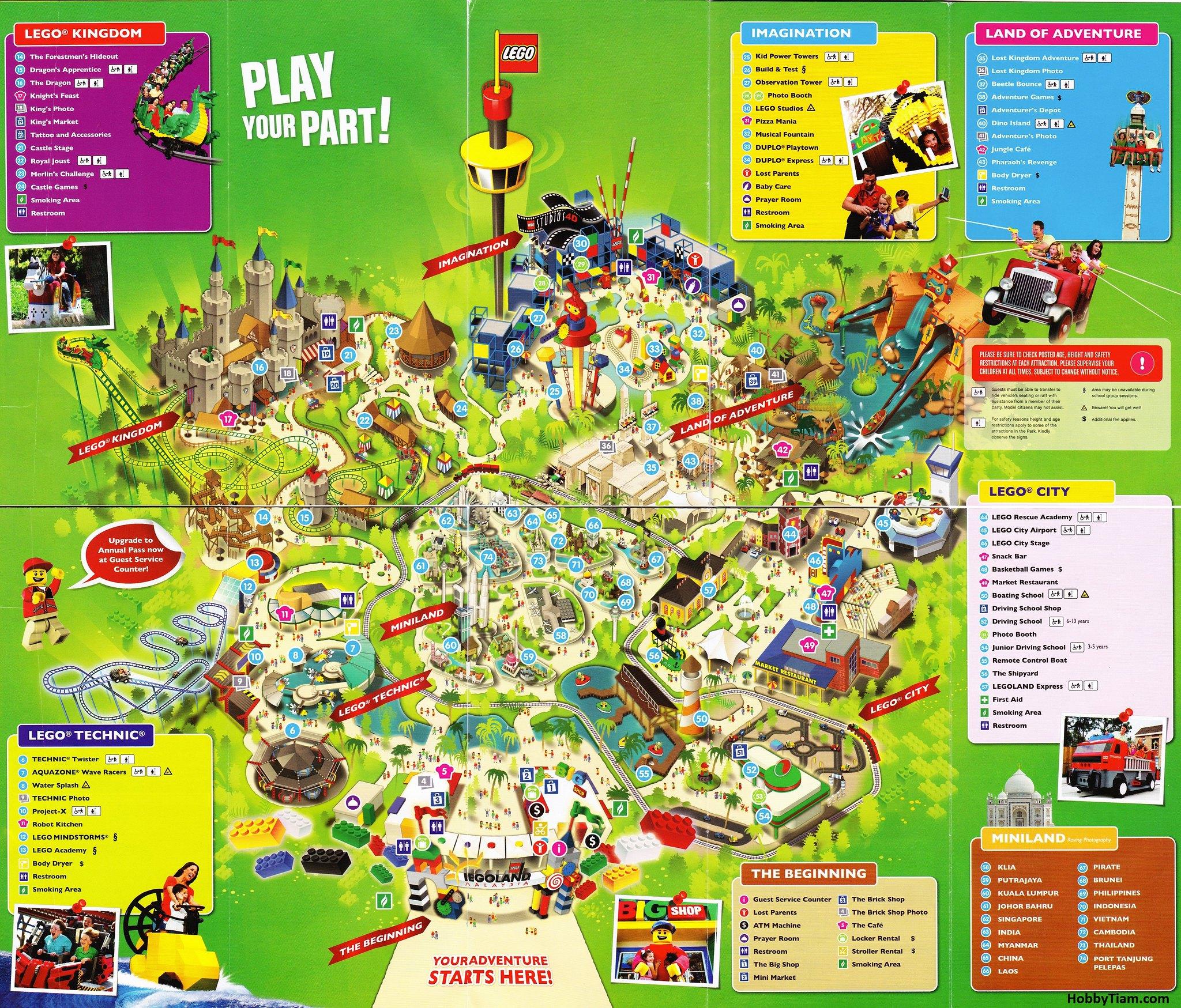 Malaysia: Map Of Legoland Malaysia
