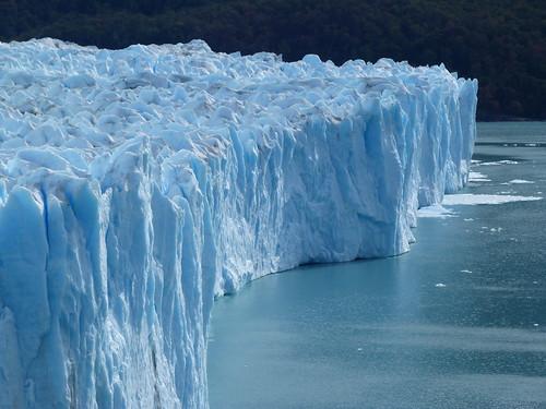 El hielo azul del Glaciar Perito Moreno