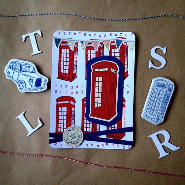 Another photo of the postcard yesterday,I can't help but show it again #telephonebox #red #blue #numbers #postcard