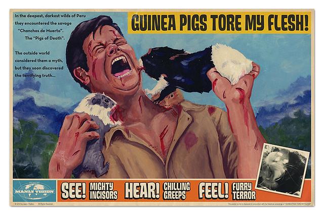Guinea Pigs Tore My Flesh Print