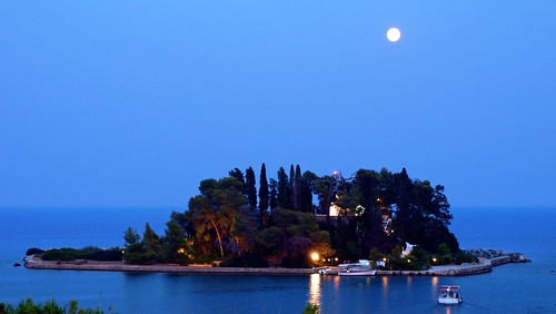 sunset sea moon mountain night island james berge greece corfu korfu lummerland mygearandme mygearandmepremium krüss