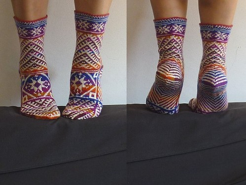 kilim socks front and back