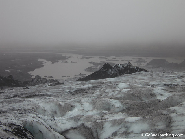 Misty view from the glacier
