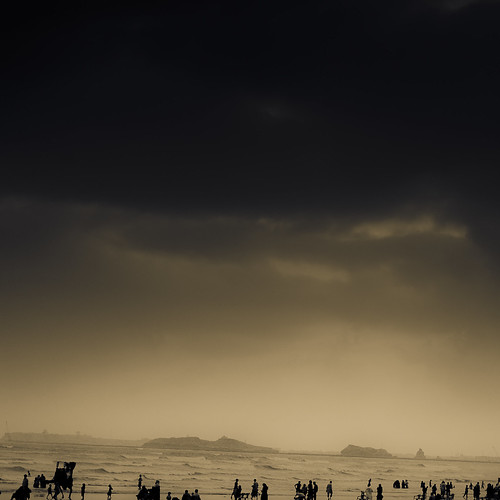 ocean uk pakistan light sea sky people bw black reflection london beach rain sepia clouds photoshop dark landscape photography sand nikon scenery view darkness shots surreal camel adobe shore desi monsoon dslr karachi vacations clifton bnw seaview lightroom 18105 sliders nikond7000
