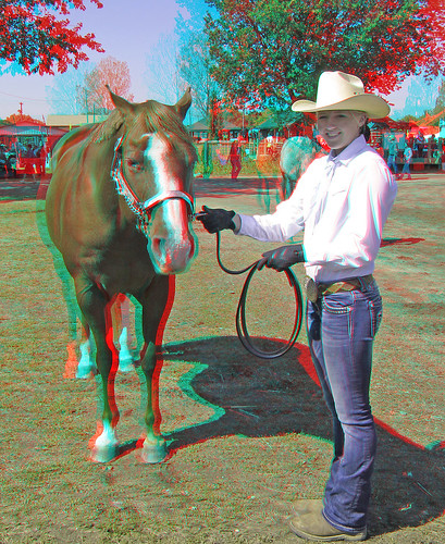 horses stereoscopic stereophoto 3d anaglyph iowa stereo spencer redcyan 3dimages 3dphoto 3dphotos 3dpictures stereopicture 2012claycountyfair
