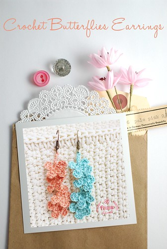 DIY Love: Crochet Butterflies Earrings