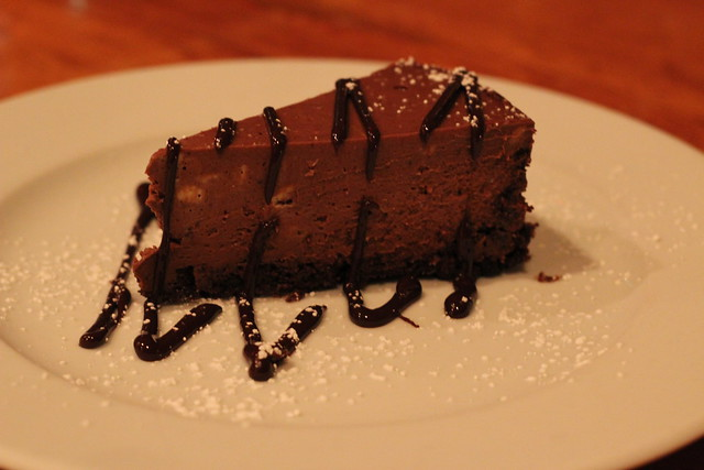 Chocolate Mousse Cheesecake at Bluebird Tavern