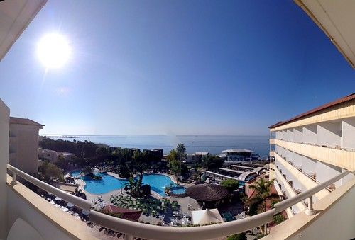 A slightly wonky panoramic shot from our hotel balcony!