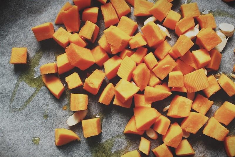 003 Roasted pumkin and mushrooms