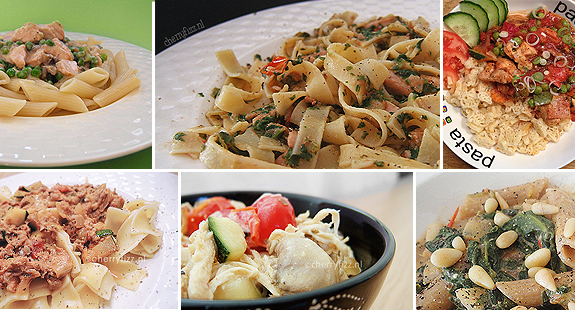 pasta-spinaziepesto-tomaat-collage