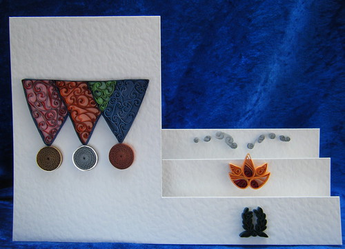 Quilled 'sport theme' card by Philippa Reid
