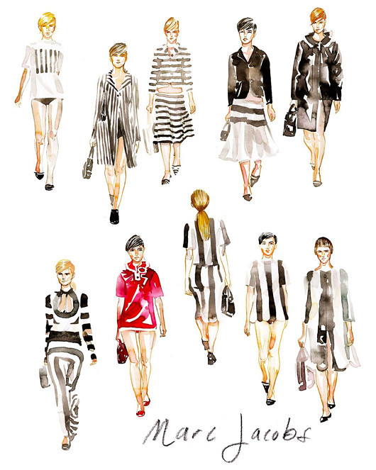 NY Fashion Week Illustrations By Samantha Hahn