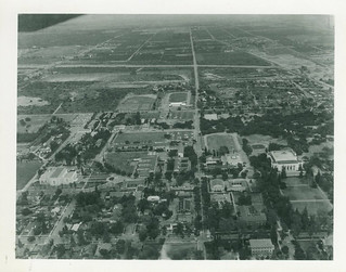 Aerial shot of the campus circa 1957-1958. You can also see Claremont McKenna College and Scripps College