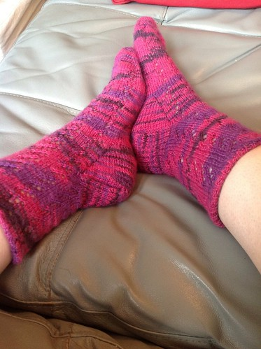 Socks from Siona by gradschoolknitter