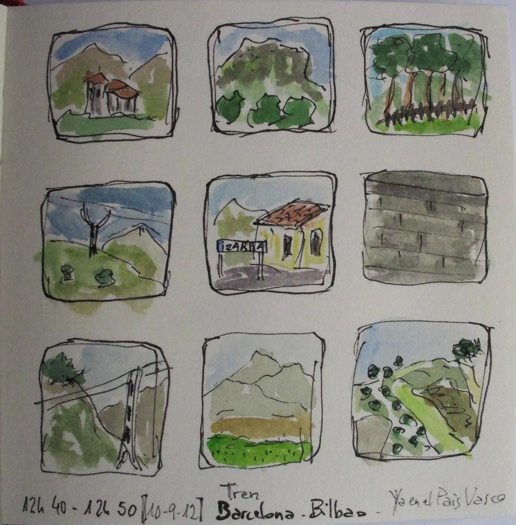 Desde el tren Bcn-Bilbao