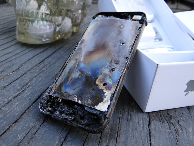 Microwaved iPHONE 5 #2