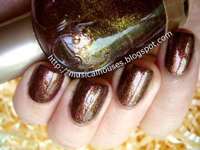 elianto burnt umber nail polish 1