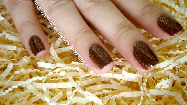 eilanto burnt umber nail polish 3
